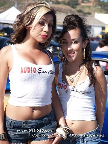 Caught! 2008 san diego car show bikini contest animal
