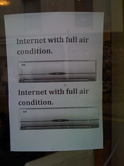 Internets has air condition!