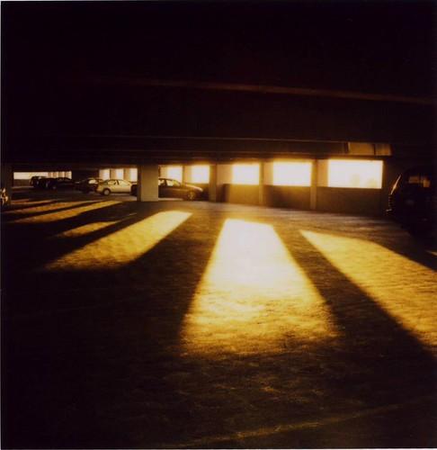 sunset polaroid garage parking slr680 680 roq