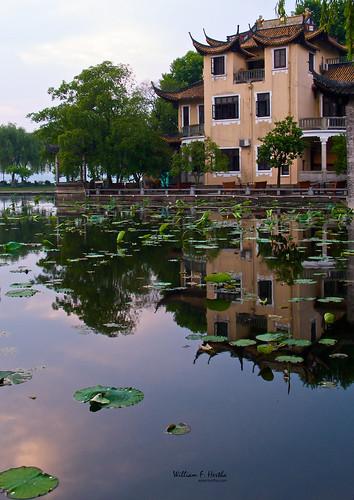 china travel vacation sunrise reflections hangzhou zhejiang