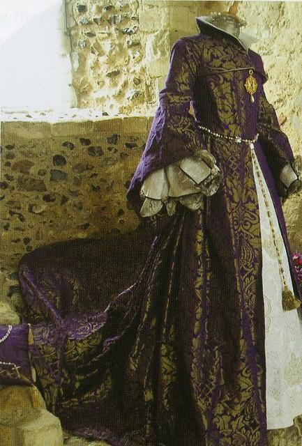 A replica of Mary Tudor's wedding dress