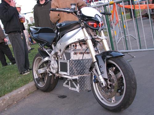 Yamaha custom electric motorcycle