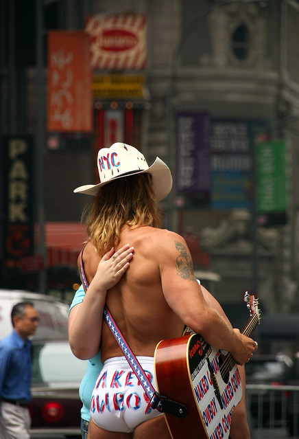 Photo:New York. Times Square. Naked Cowboy By Tomás Fano