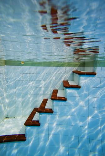 Underwater stairs
