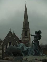 Gefion Fountain and St Alban's Church