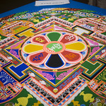 Close up of the complete sand mandala: Day 3