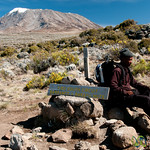 Guide Taking a Rest - Mt. Kilimanjaro, Tanzania