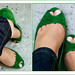 my very green peeptoes