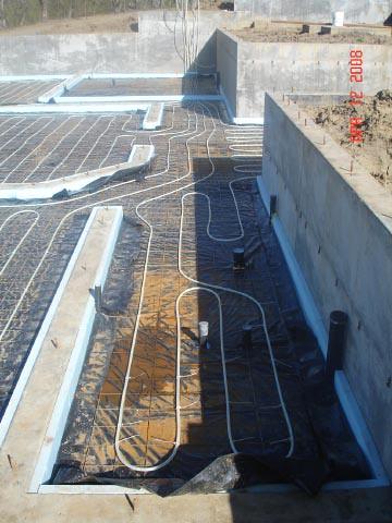 Radiant floor heating slab radiant floor 8x8 ceramic floor tile - Intermediate floor casting ...