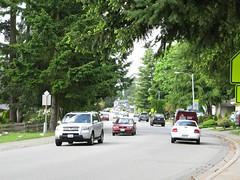 Heavy Traffic on a Neighborhood Street