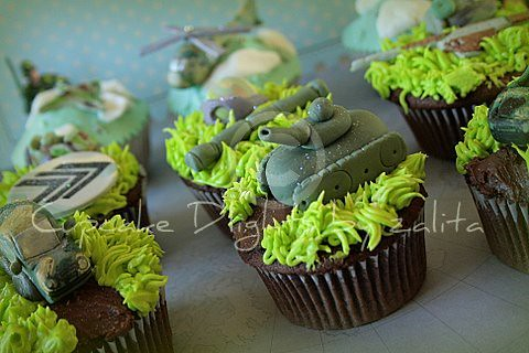 Army Theme Birthday Army Themed Cuppies Flickr