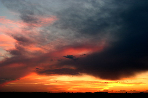 sunset sky clouds orange pink horizon iowa june markevans chimothy27