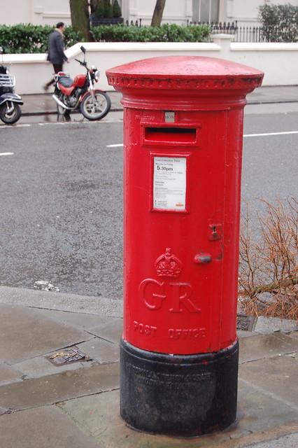 pillar box  post box  near maida vale in london