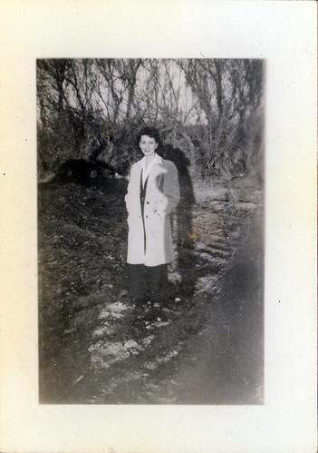 Gloria in coat