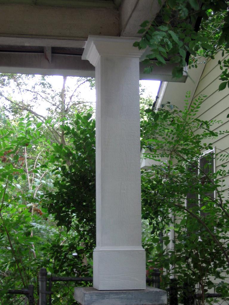 New pillar in carport