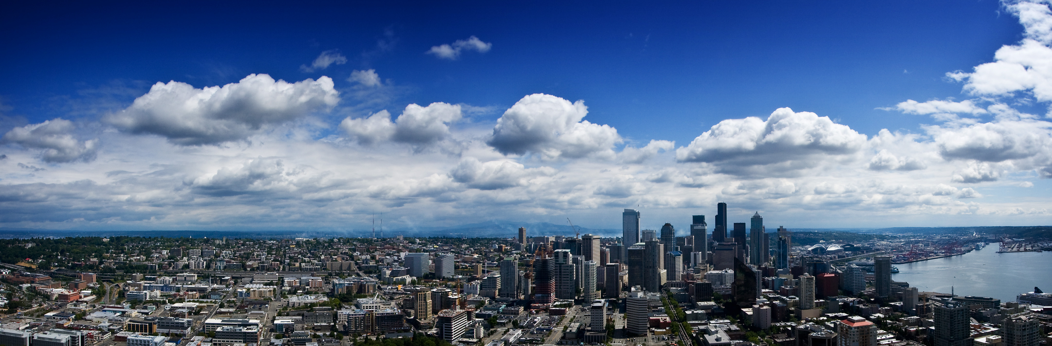Lucky 8 Auto >> Seattle Panorama from the Space Needle | Flickr - Photo Sharing!