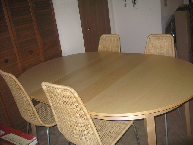 Ikea dining table 4 convertible for 6 like new flickr - Table convertible ikea ...