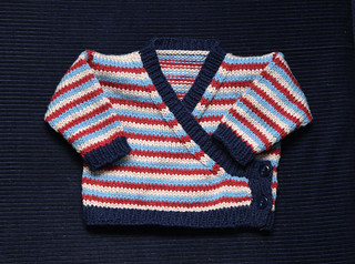 Baby Wrap-Cardigan free knitting pattern on Its a Stitch Up