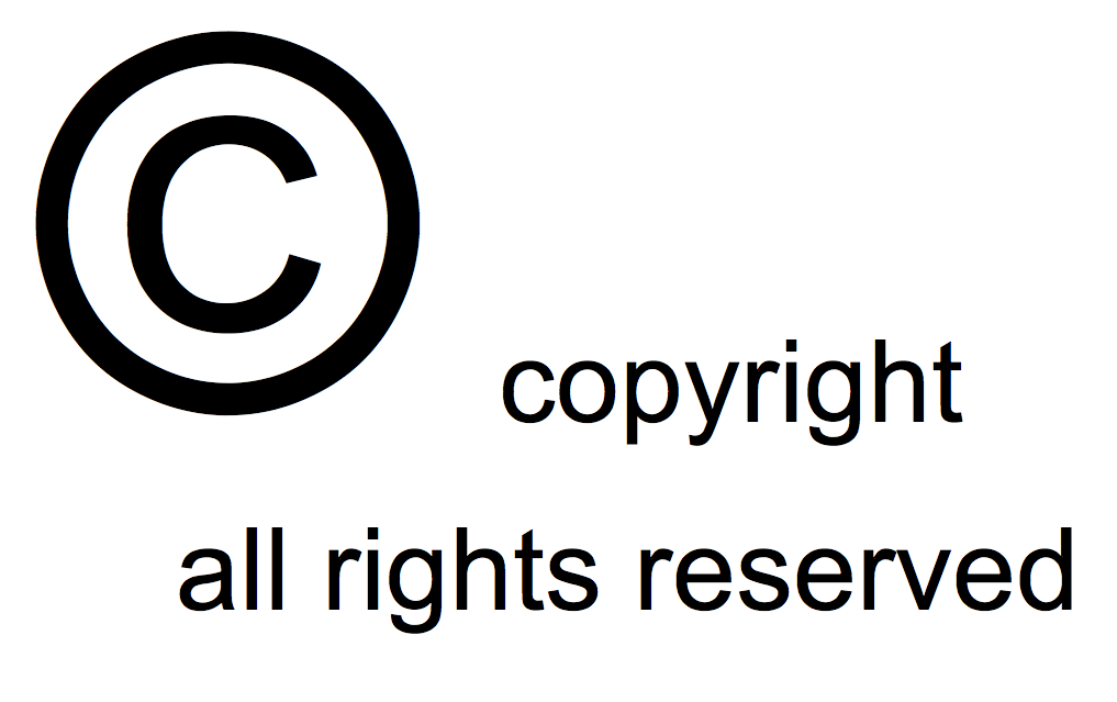copyright all rights reserved image
