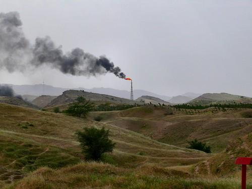 Iranian oil flare