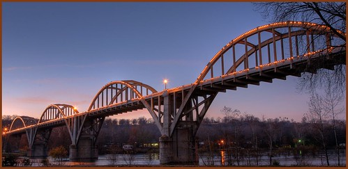 Cotter bridge, spanning the White river in Arkansas