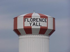 The FLORENCE Y'ALL Water Tower
