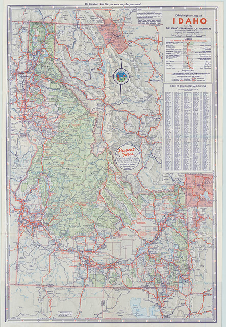 1950 Official Idaho Highway Map  Flickr  Photo Sharing