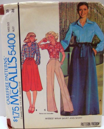 Vintage Mccalls 5400 Sewing Pattern Size 16 Uncut And Factory Folded