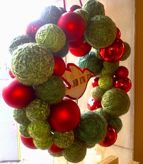 Skeins Galore: the Advent wreath in one of local Starbucks