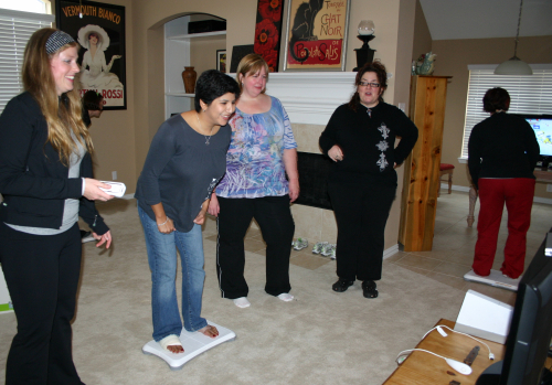 Wii Fit with a broken foot by .imelda