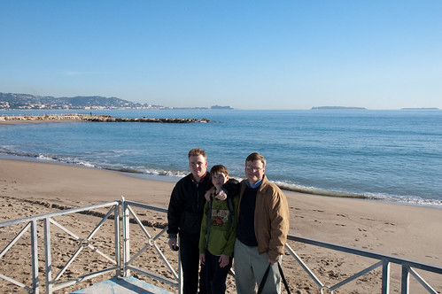 Matthew, Jim and Alex on the beach at Cannes