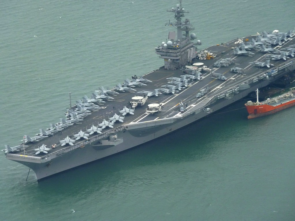 Uss George Bush Portsmouth At Anchor In Stokes Bay Betw Flickr