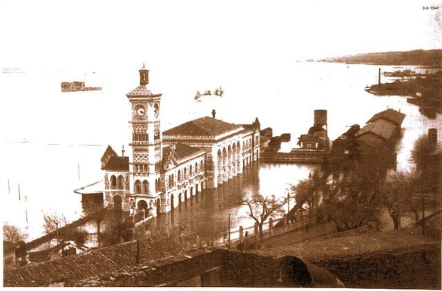 Inundación de 1947, Estación de Ferrocarril