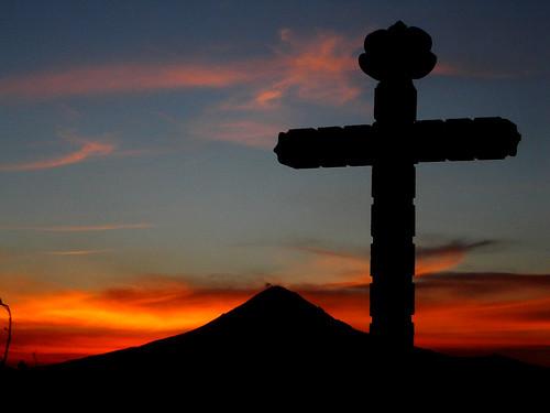 sunset sun sol méxico atardecer volcano cruz cholula puebla ocaso popocatepetl volcán religión mywinners anawesomeshot pepe15 iglesiadelosremedios