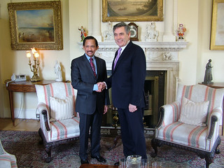 The PM with the Sultan of Brunei