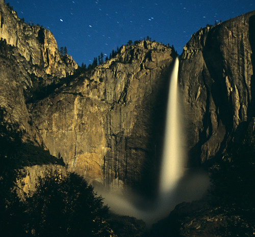 Yosemite Falls by Moonlight