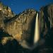 Yosemite Falls by Moonlight