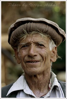 An old man at Bamburet valley Kalash