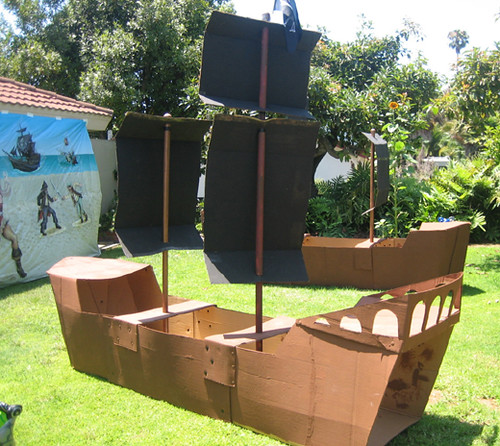 cardboard pirate ship template - cardboard pirate ship template