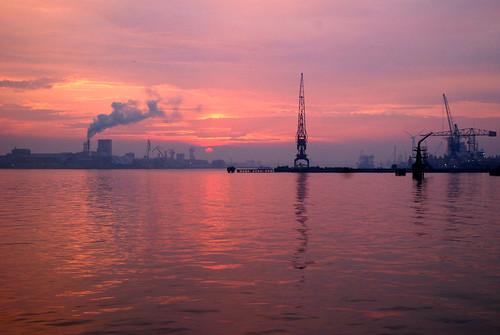 sunset amsterdam cityscape riverside 170 hetij heavyindustry vob harbourcranes ëxplore pierndsmwharf