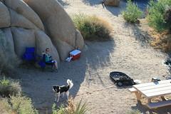 Linda & Loki in camp