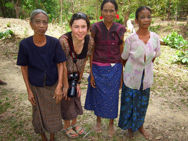 Me and Chin Pan Paung women, Myanmar, 2008