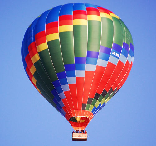 Hot Air Balloon Replica  Authentic Models Floating in the