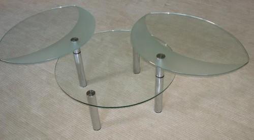 Scandinavian Design Chic TURNABLE Glass Coffee Table