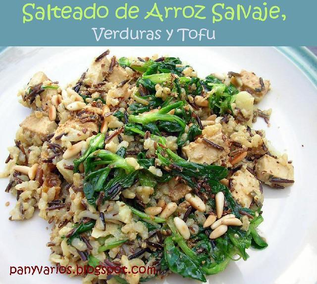 Salteado de arroz salvaje verduras y tofu flickr - Salteado de arroz ...