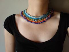 Camassia Quamash ... Freeform Crochet Necklace