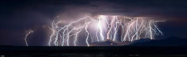 """Great Salt Lake, Utah; Energizer Bunny, """"Shot 10"""" Temper, Temper!"""