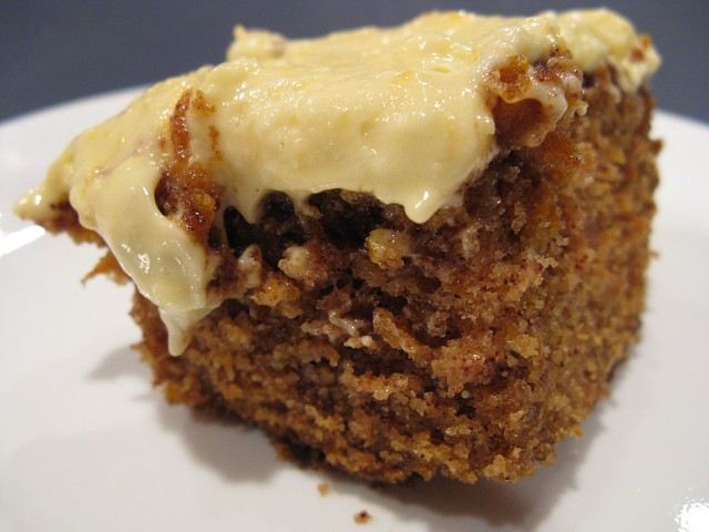 carrot cake with mandarin orange cream cheese frosting | Flickr ...