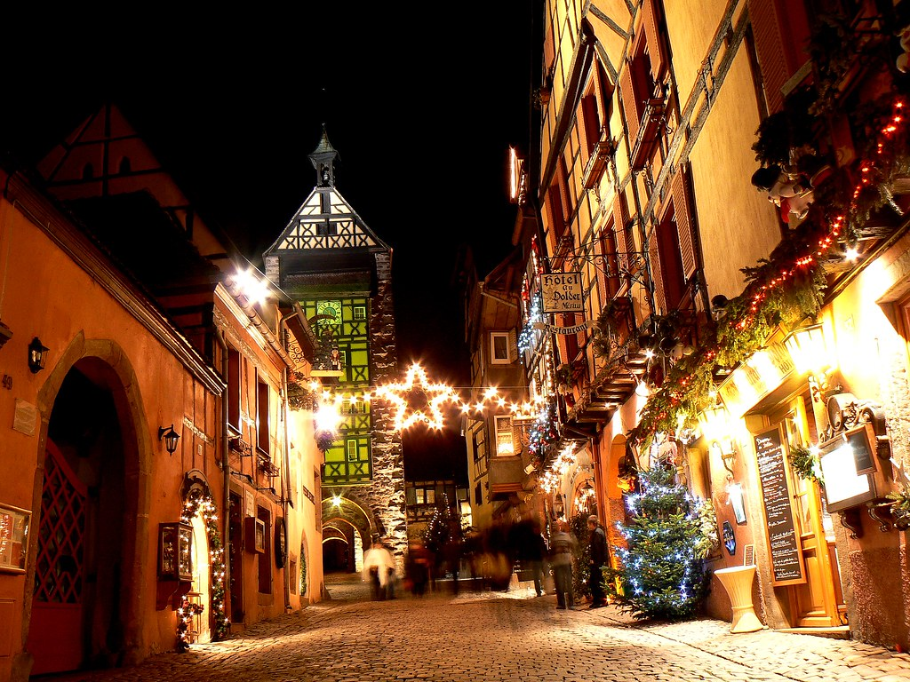 NOËL en Alsace : RIQUEWIHR by night