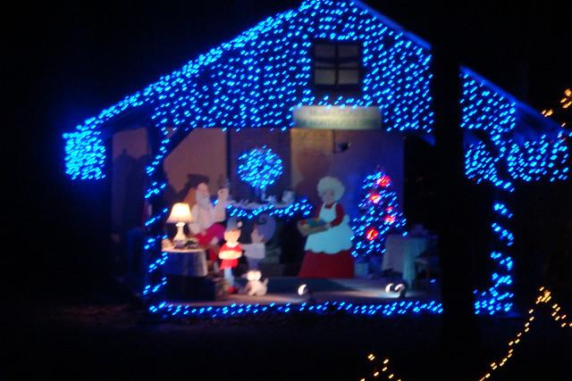 Christmas lights college station decorating